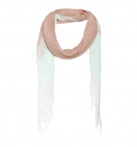Linnen/viscose sjaal met een sjaal op een sjaal print