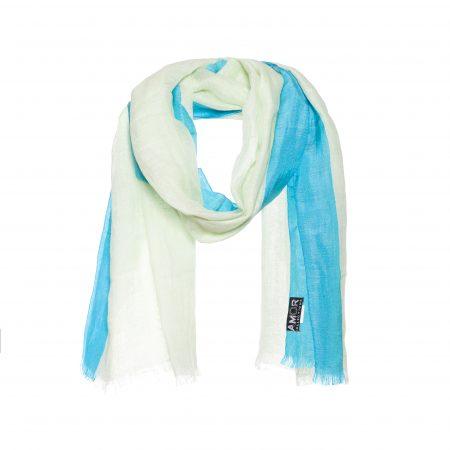 Mooie linnen sjaal met zijde rand