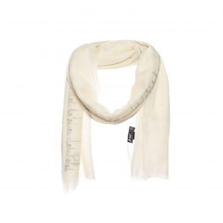 Prachtige zomer wollen sjaal met borduursel