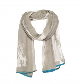 Een mooie modale sjaal met slangenprint