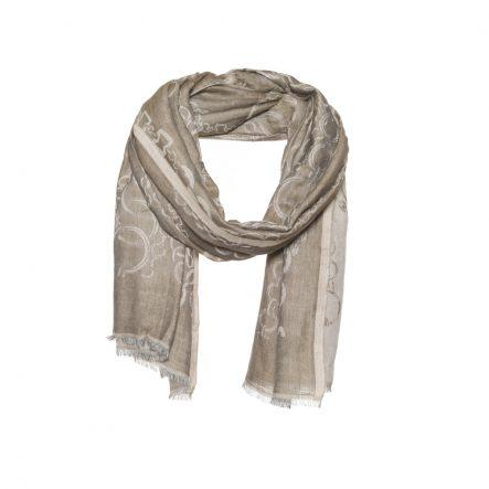 Katoen - wollen sjaal met ingeweven ketting