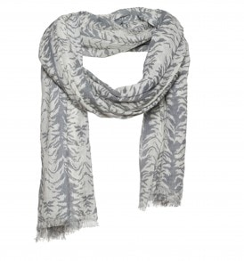 Lurex sjaal met zebra print op katoen
