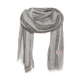 Grijze sjaal met Aboriginal print