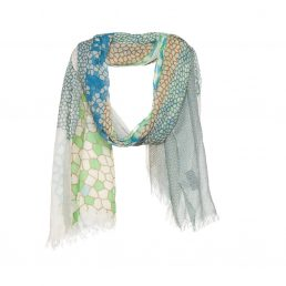 Cotton/ modal scarf with pixelate print - AM 859