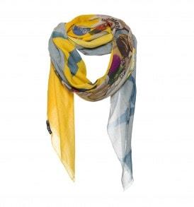 gele grijze sjaal katoen