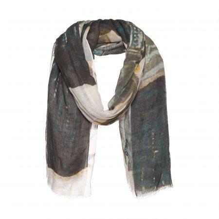 Linnen/ katoenen sjaal met print – AM 881