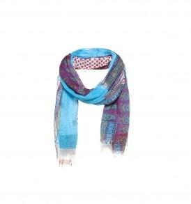 Patchwork sjaal paars