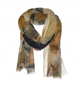 blad print sjaal