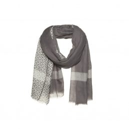 Woolen scarf with stripe - AM 902