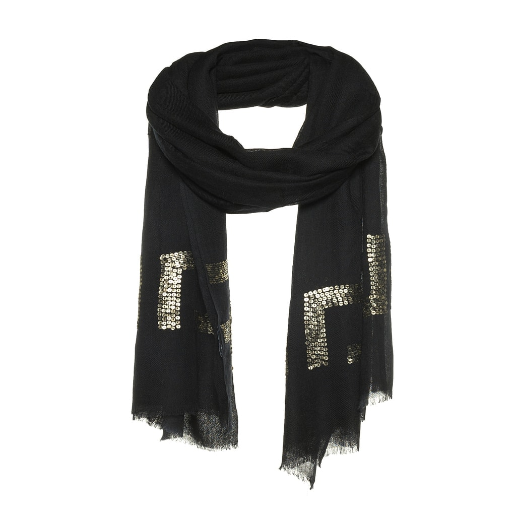 wol met pailletten sjaal