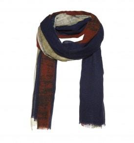 Sjaal met vervaagde print