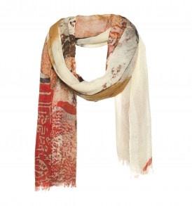 Art'scarf wollen sjaal rood - AM 934