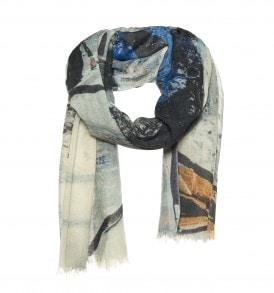 Art'scarf wollen sjaal blauw - AM 935