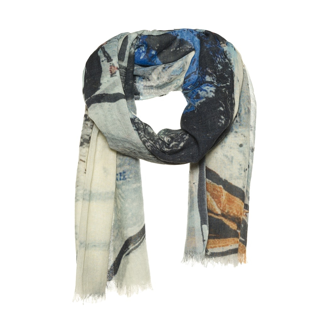 Art'scarf woolen scarf blue - AM 935