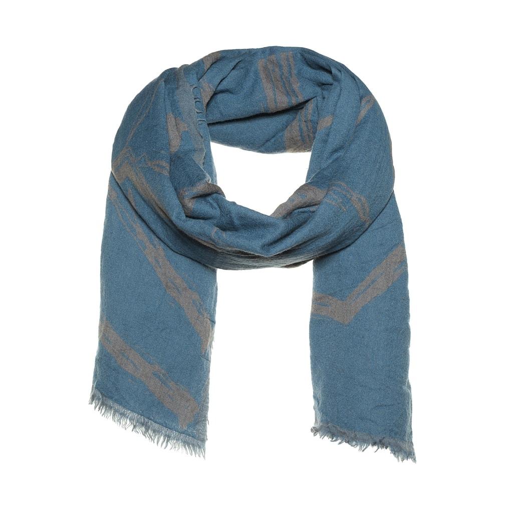 Dubbel geweven sjaal met zeshoek design