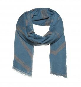 Dubbel geweven sjaal met zeshoek design - AM 915