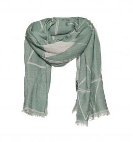 groen wol sjaal