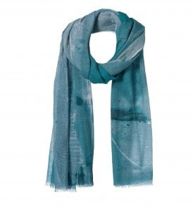 amor collections cotton scarf with print green