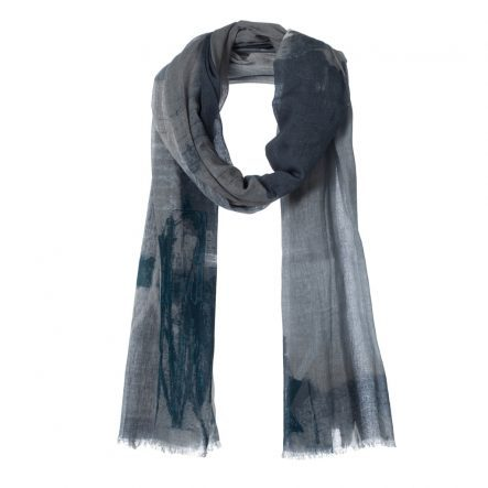 amor collections cotton scarf with print grey