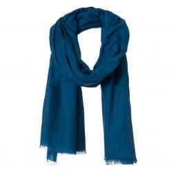 Katoenen sjaal met ingeweven patroon
