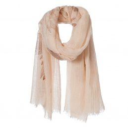 Linen/viscose scarf with summery print - AM 968