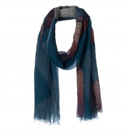 amor collections silk cotton scarf colour crosses denim