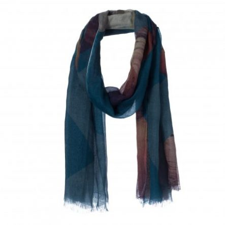 amor collections silk cotton scarf colour crosses denim