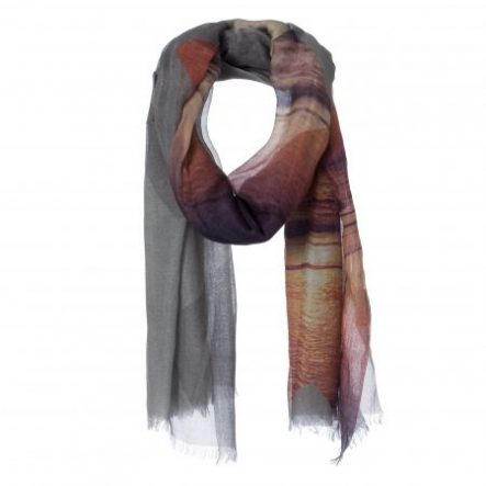 amor collections silk cotton scarf colour crosses grey